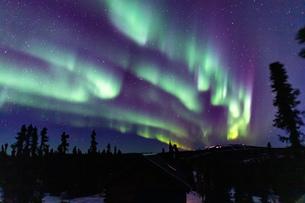 アラスカ フェアバンクスのオーロラの写真素材 [FYI04084344]
