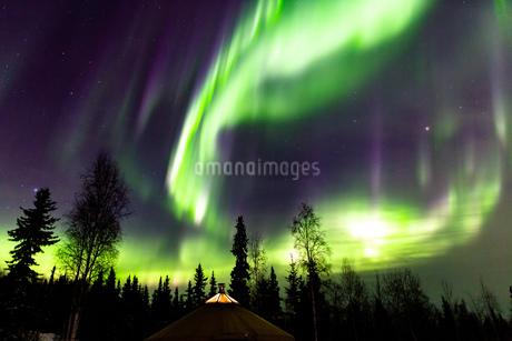 アラスカ フェアバンクスのオーロラの写真素材 [FYI04084467]