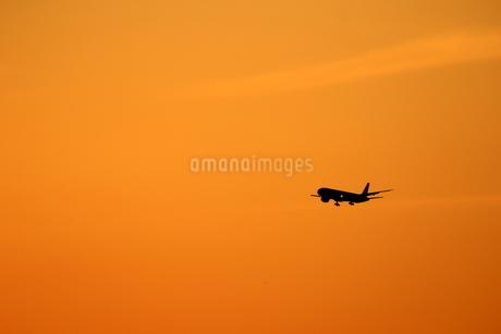 夕焼け空のシルエットの写真素材 [FYI04084757]