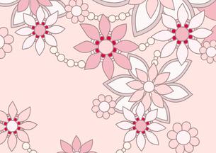 ピンク色の花の背景イラスト1横のイラスト素材 [FYI04084910]