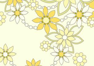 黄色の花の背景イラスト1横のイラスト素材 [FYI04084914]