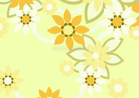 黄色の花の背景イラスト2横(線画無し)のイラスト素材 [FYI04084916]