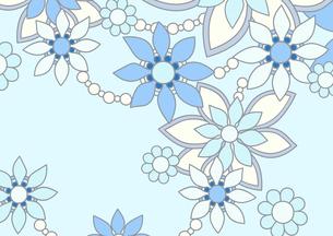 青色の花の背景イラスト1横のイラスト素材 [FYI04084920]