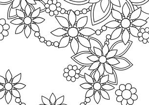 花1横(線画)のイラスト素材 [FYI04084924]