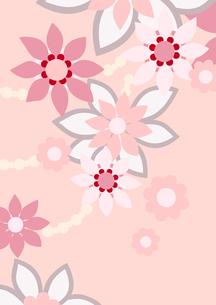 ピンク色の花の背景イラスト2縦(線画無し)のイラスト素材 [FYI04084929]
