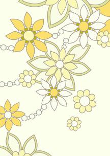 黄色の花の背景イラスト1縦のイラスト素材 [FYI04084931]