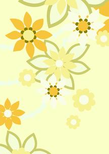 黄色の花の背景イラスト2縦(線画無し)のイラスト素材 [FYI04084933]