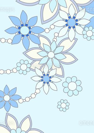 青色の花の背景イラスト1縦のイラスト素材 [FYI04084935]