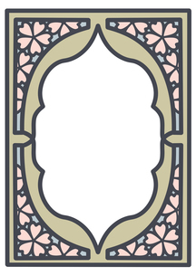 桜フレーム縦2のイラスト素材 [FYI04084976]