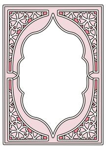 桜フレーム縦4のイラスト素材 [FYI04084979]