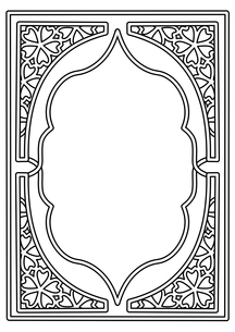 桜フレーム縦線画のイラスト素材 [FYI04084983]