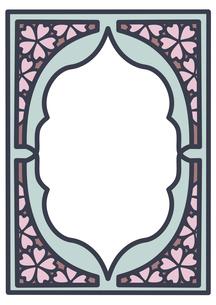 桜フレーム縦1のイラスト素材 [FYI04084989]