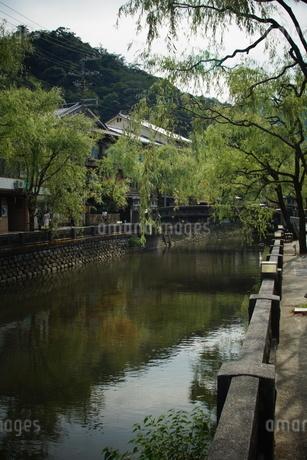 城崎温泉の町並みの写真素材 [FYI04085169]