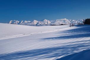 十勝岳連峰と雪原の写真素材 [FYI04085258]