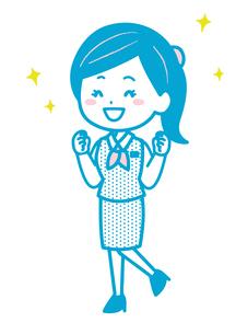 ガッツポーズをするビジネス女性 ポーズ イラストのイラスト素材 [FYI04085495]