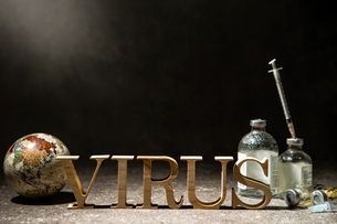 VIRUSの文字の写真素材 [FYI04085679]