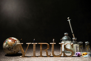 VIRUSの文字の写真素材 [FYI04085683]