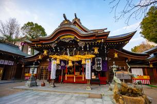 櫛田神社の本殿の写真素材 [FYI04085816]