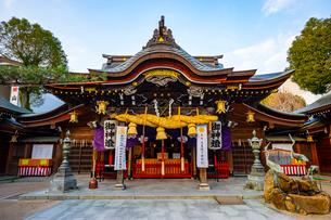 櫛田神社の本殿の写真素材 [FYI04085817]