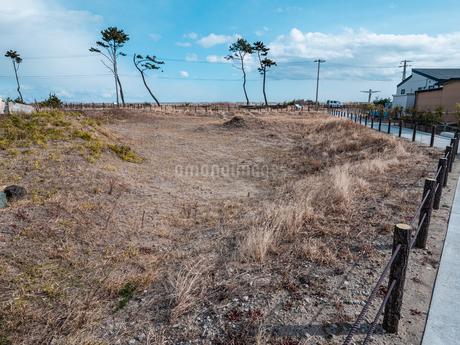 東日本大震災の被災地、宮城県仙台市荒浜地区の景色。の写真素材 [FYI04086074]