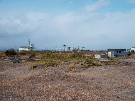東日本大震災の被災地、宮城県仙台市荒浜地区の景色。の写真素材 [FYI04086076]