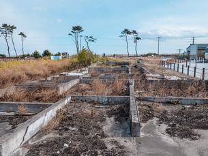 東日本大震災の被災地、宮城県仙台市荒浜地区の景色。の写真素材 [FYI04086088]