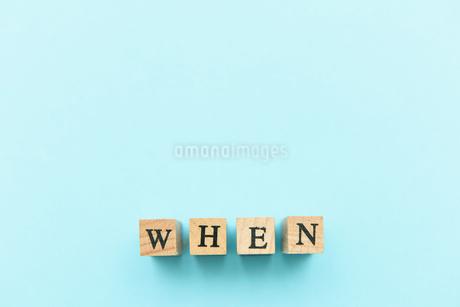 アルファベット テキスト 文字 英字 単語 スタンプ 素材 水色の写真素材 [FYI04086235]