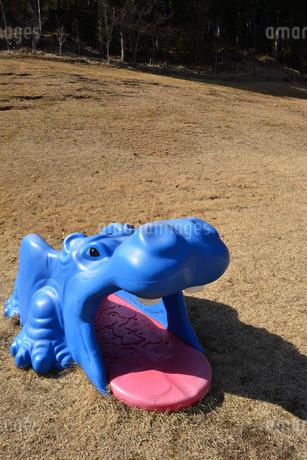 公園 遊具 カバの写真素材 [FYI04087589]