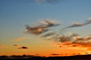 相模湾の夕焼けの写真素材 [FYI04087773]
