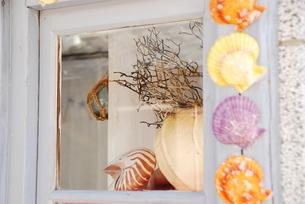 貝の窓飾りの写真素材 [FYI04087781]
