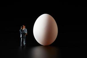 卵とビジネスマンの写真素材 [FYI04088149]