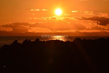 荒崎海岸の夕景の写真素材 [FYI04088377]