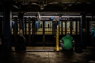 ニューヨークの地下鉄のイメージの写真素材 [FYI04088618]