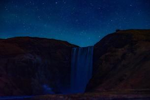 アイスランドのスコゥガフォスの滝の写真素材 [FYI04088624]