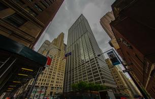 ニューヨーク・ウォール街の街並みの写真素材 [FYI04088631]