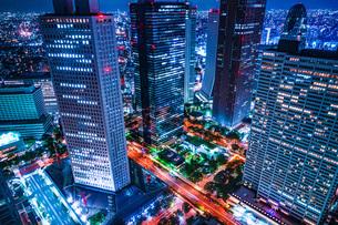 東京都庁舎の展望台から見える東京の夜景の写真素材 [FYI04088634]