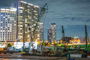 横浜・みなとみらいの工事現場の写真素材 [FYI04088669]