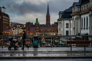 スウェーデン・ストックホルムの街並みの写真素材 [FYI04088725]