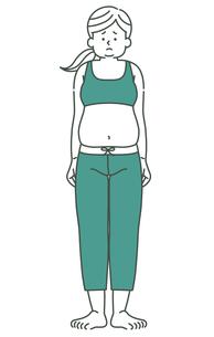 女性-全身-肥満-2色のイラスト素材 [FYI04089267]