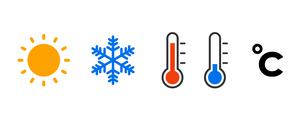 気温のアイコンセットのイラスト素材 [FYI04089742]