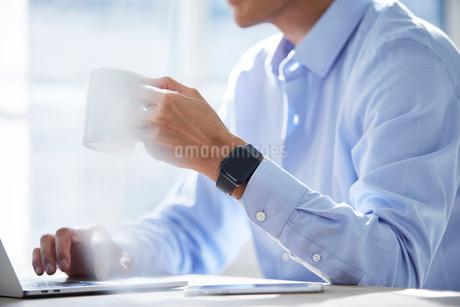 仕事をする男性の写真素材 [FYI04089765]
