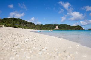 沖縄県座間味ビーチの写真素材 [FYI04089852]