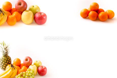 白背景のフルーツの写真素材 [FYI04089889]