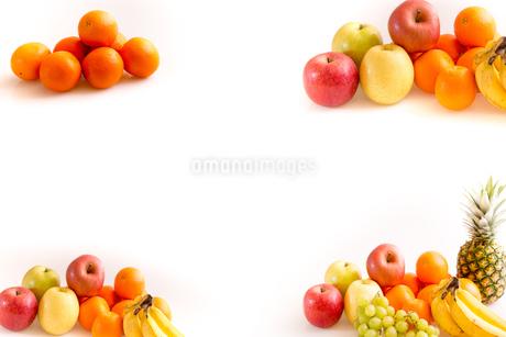 白背景のフルーツの写真素材 [FYI04089891]