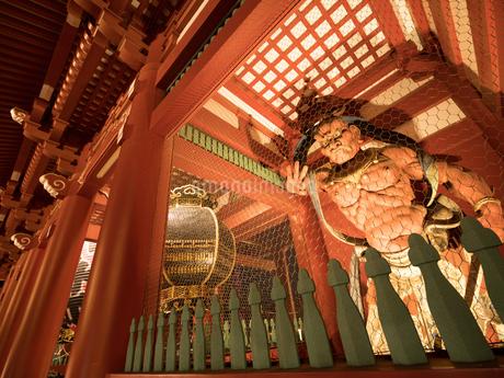 東京都 浅草寺宝蔵門と仁王像の写真素材 [FYI04090251]