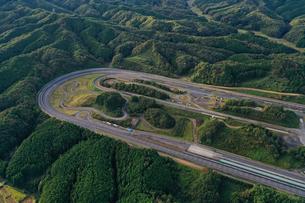 日産自動車茂木試験場の空撮写真の写真素材 [FYI04090350]