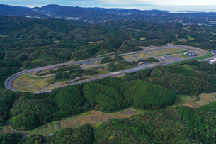 日産自動車茂木試験場の空撮写真の写真素材 [FYI04090351]