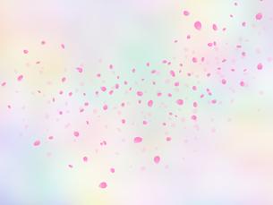 淡い色調の花吹雪イラストのイラスト素材 [FYI04090516]