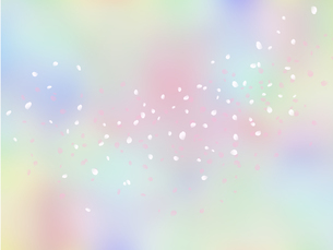 淡い色調の花吹雪イラストのイラスト素材 [FYI04090522]