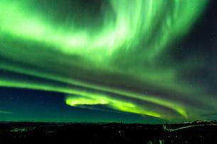 アラスカ フェアバンクスのオーロラの写真素材 [FYI04090550]